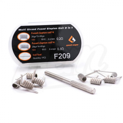 Coil box MTL Fused clapton coil 2 in 1 / 8pcs / 4x coils Ni80 / 4x coils Kanthal A1 - Geekvape