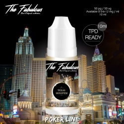 pack de 5 E-liquides Texas Hold'em 10 ML 00 mg - The Fabulous